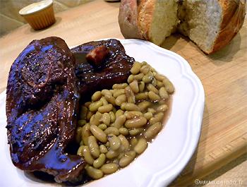 Recette Tranches de gigot d'agneau caramélisées au vinaigre balsamique