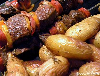 Recette Brochette de boeuf en marinade