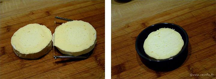 Recette Camembert au four et sa salade