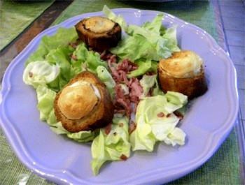 Recette Salade au chèvre chaud [Recette facile]