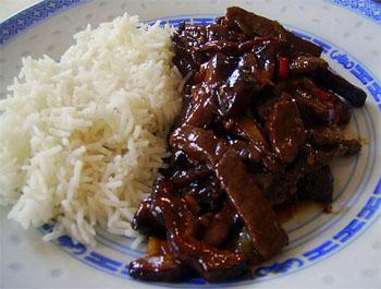 Recette Bœuf aux champignons noirs - Recette