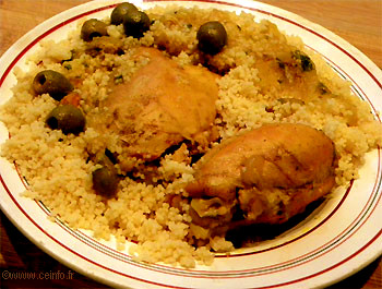 Recette Tajine de poulet aux olives et citron confit