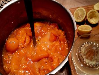 Recette Confiture d'abricots express