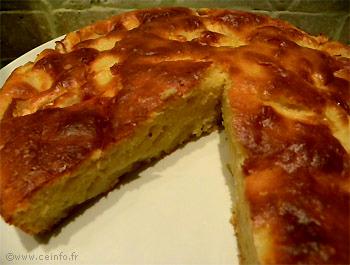 Recette Gâteau aux pommes à la crème fraîche