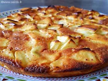 Recette Moelleux aux pommes