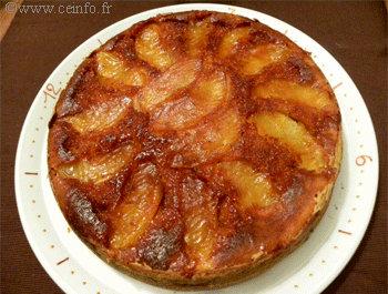 Recette Gâteau tatin aux pommes caramélisées et yaourt