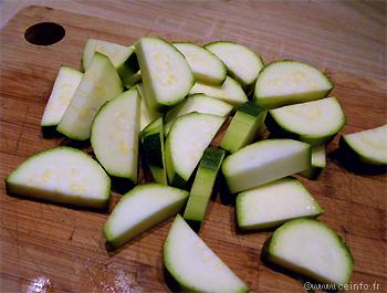 Recette Poêlée de courgettes aux lardons et oignons caramélisés