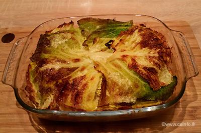 Recette Lasagnes de chou vert au poulet [recette light]