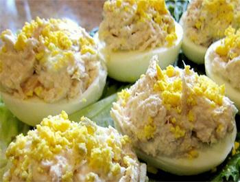 Recette Les œufs mimosa au thon - Recette [Très facile]