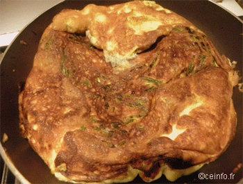Recette Omelette de Pâques