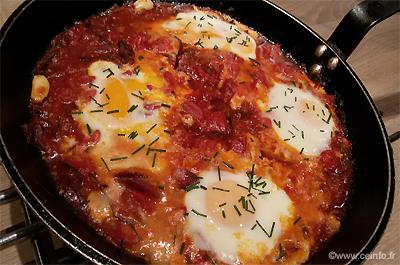 Recette Tomates aux œufs