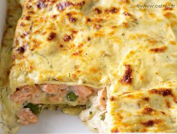 Recette Lasagnes au saumon et poireaux