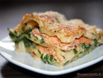 Recette Lasagnes au saumon et épinards