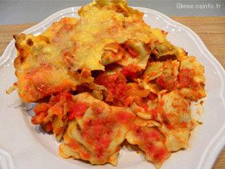 Recette Raviolis gratinés à la sauce tomate [recette facile]