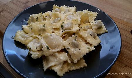 Recette Raviolis sauce fromagère