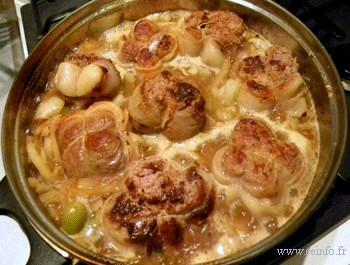 Recette Paupiettes de veaux en sauce tomate et oignons [recette facile]
