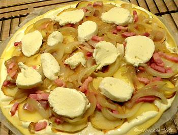 Recette La pizza montagnarde - Pizza blanche