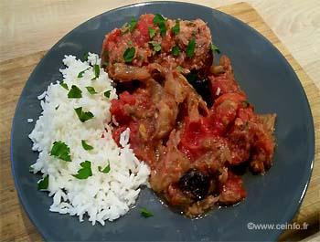 Recette Roussette aux tomates et céleris (saumonette)