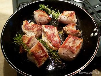 Recette Filet mignon de porc et sa sauce au miel (Miel et vinaigre balsamique)