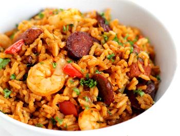 Recette Jambalaya poulet, crevettes et chorizo (Louisiane)