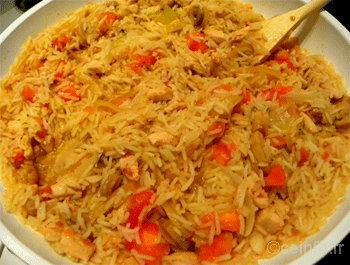 Recette Rizotto au poulet et à la tomate [Recette facile]