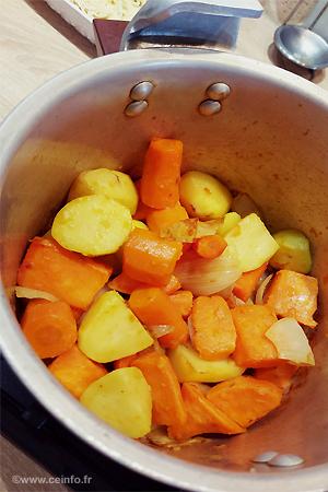 Recette Soupe veloutée à la patate douce