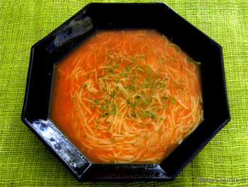 Recette Soupe tomate vermicelle [très facile]