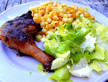 Recette Cuisse de canard en marinade au barbecue Weber