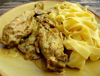 Recette Fricassée de poulet [ou de lapin]