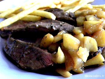 Recette Magret de canard aux pommes [recette facile]