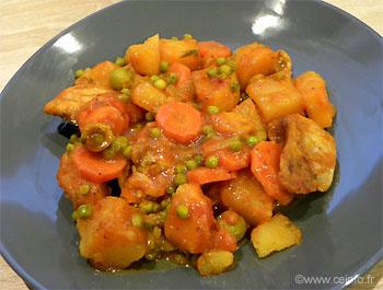 Recette Ragoût de poulet aux pommes de terre